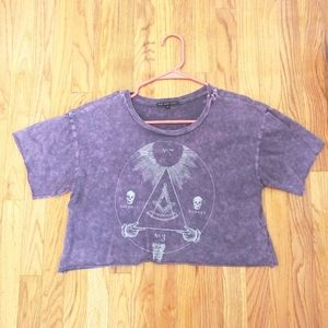 Truly Madly Deeply Purple Crop Top Highest Powers